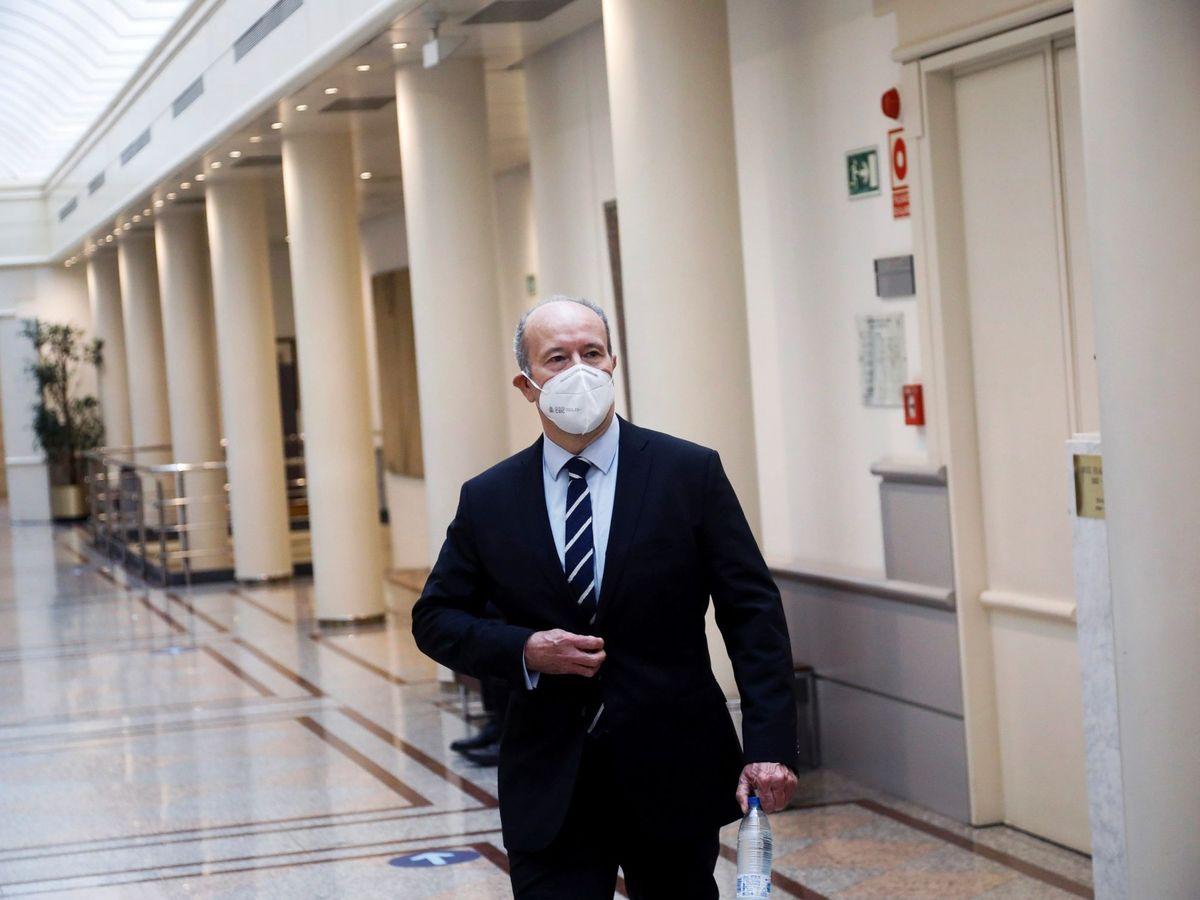 Foto: El ministro de Justicia, Juan Carlos Campo, en el Senado. (EFE)