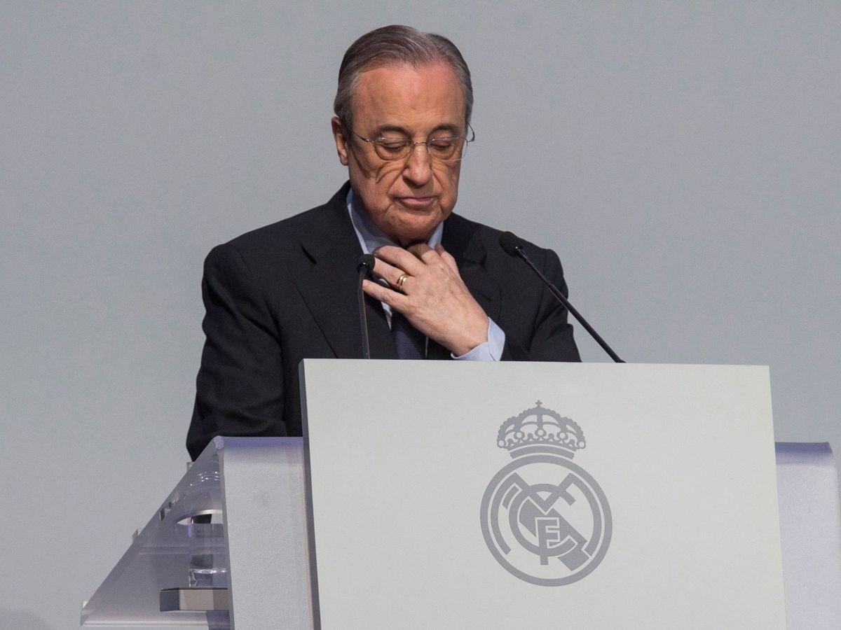 Foto: Florentino Pérez, durante una imagen de archivo en un acto del Real Madrid. (EFE)