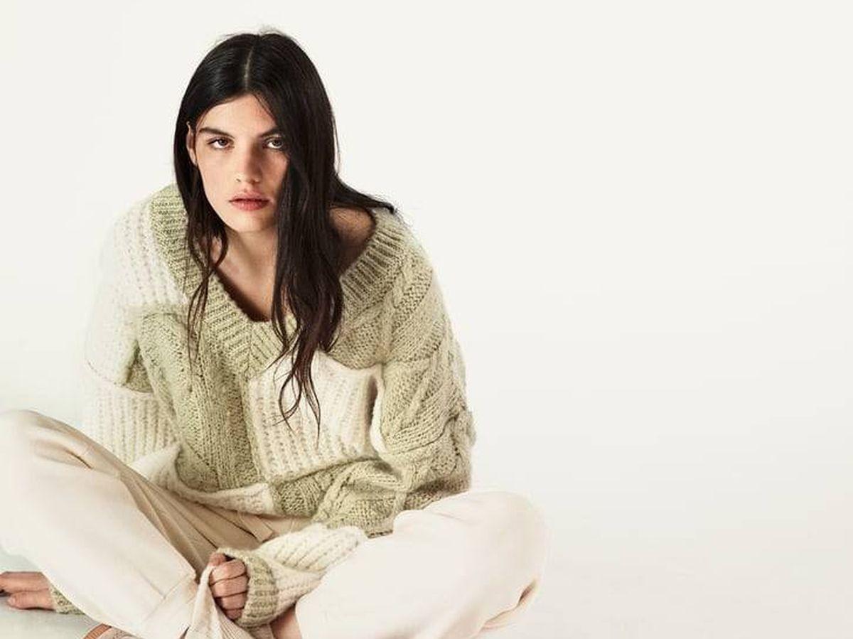 Foto: Jersey patchwork de Zara. (Cortesía)