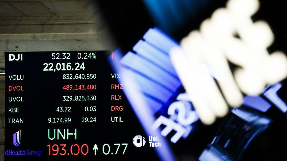 Foto: Un tablero muestra el promedio del Dow Jones en la sede de la Bolsa de Nueva York. (EFE)
