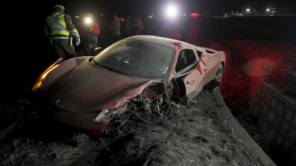 El accidente de Arturo Vidal, en imágenes