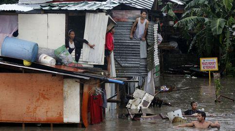Una depresión tropical causa inundaciones en Manila