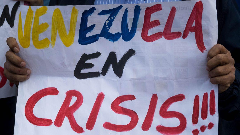 Foto: Opositores a Maduro se manifiestan durante la visita a Caracas de Michelle Bachelet, Alta Comisionada de la ONU para los DDHH.(EFE)