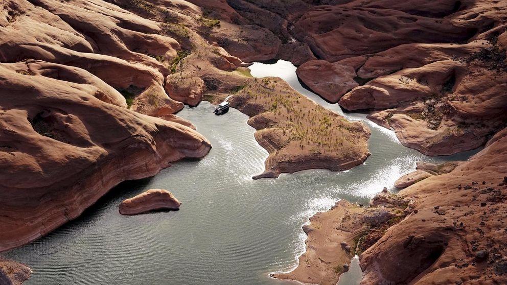 Las impresionantes fotografías que ha dejado la sequía del lago Powell