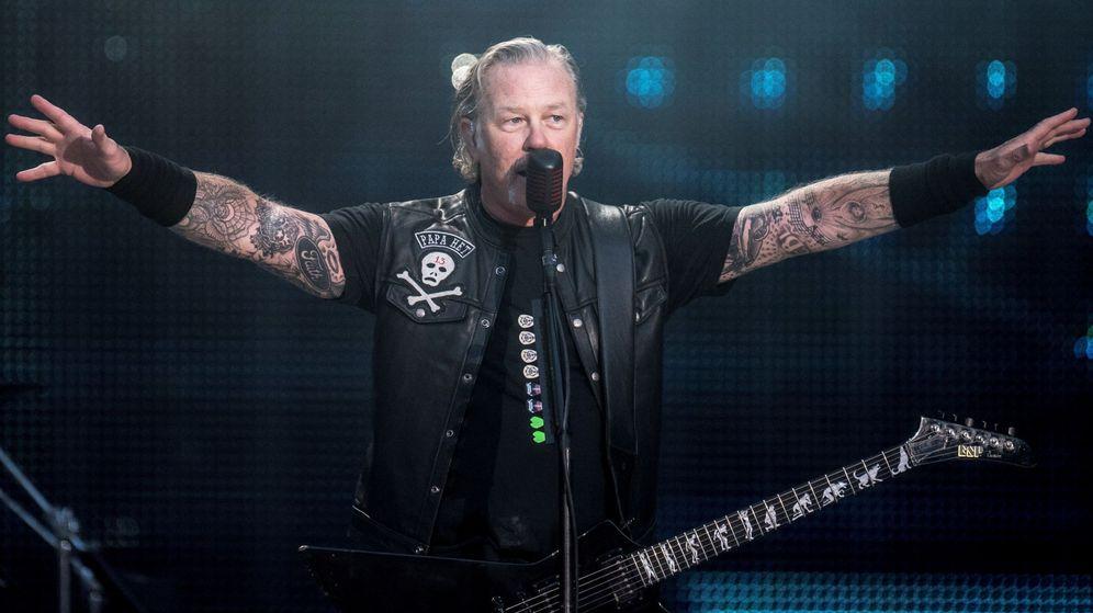 Foto: James Hetfield, de Metallica, en concierto. (EFE)