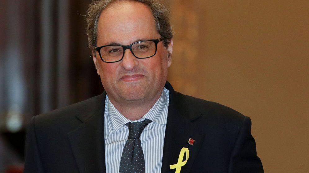 Foto: Quim Torra, a la entrada del parlament de Barcelona. (Reuters)