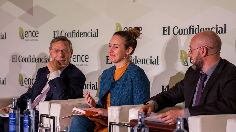 José Folgado (REE), Melisa Rodríguez (Ciudadanos) y Jorge Sanz (Comisión de Expertos para la Transición Energética)