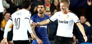 Post de La mala suerte del Valencia y el milagro de Wass que le mantiene vivo en la Champions