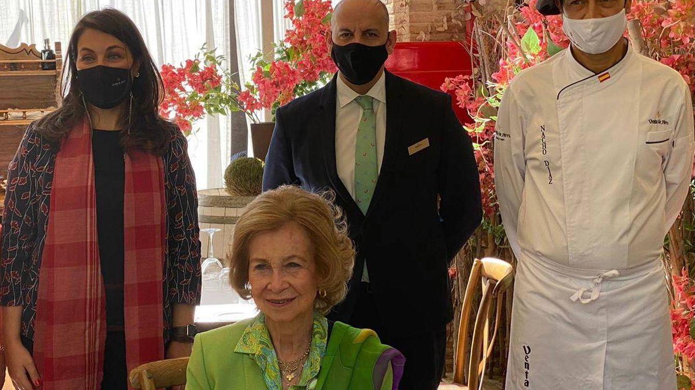 La comida de la reina Sofía en Toledo: platos típicos, viva el Rey y un emotivo momento