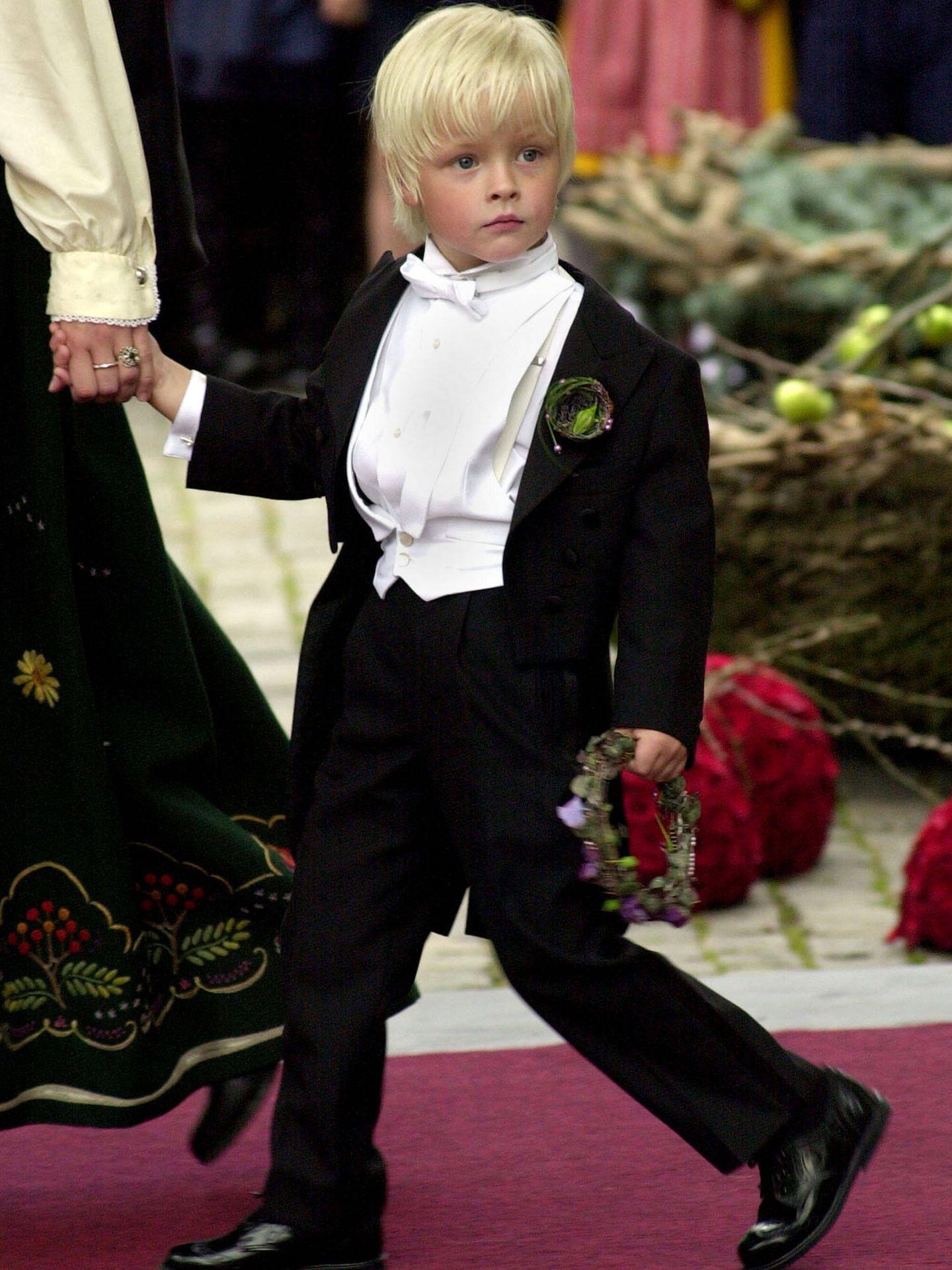 Marius Borg, en la boda de su madre. (Getty)