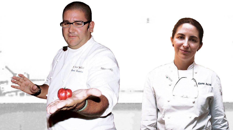 Foto: Dani García y Elena Arzak, dos de los chefs consultados por Gentleman.