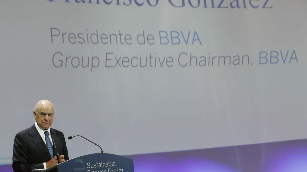 Foto: El presidente del BBVA, Francisco González en un foro de BBVA. (EFE)