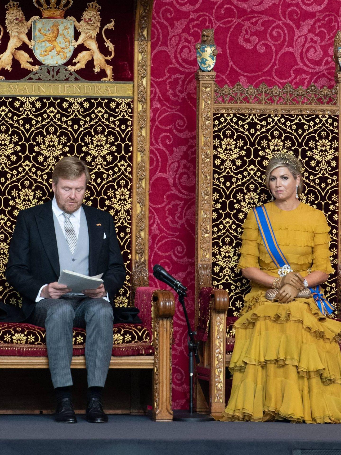 Los reyes durante la ceremonia. (CP)