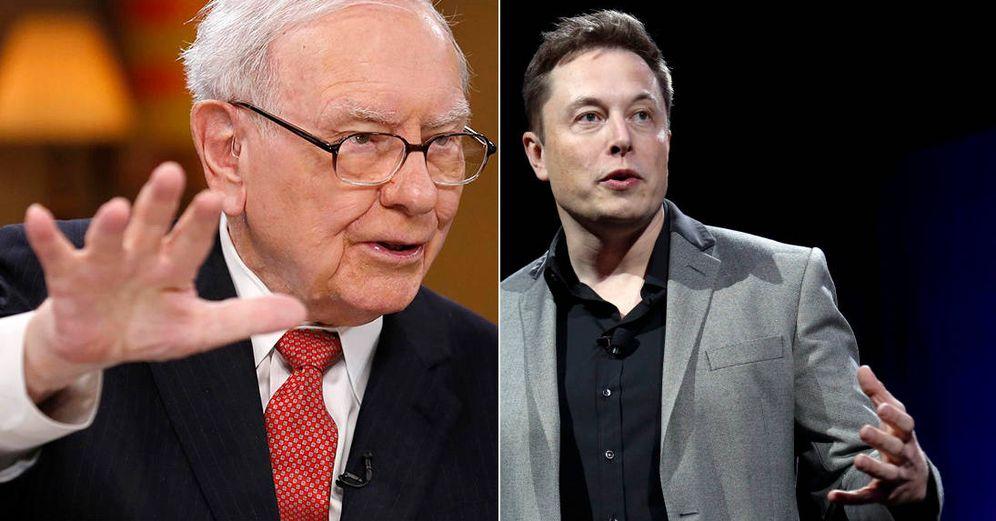 Foto: Warren Buffett  y Elon Musk.