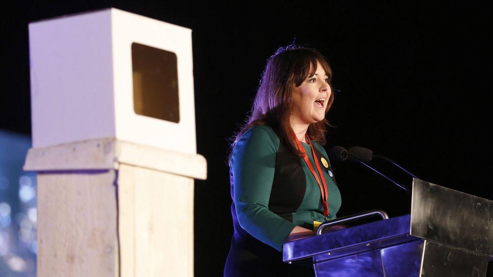 Foto: Natalie McGarry, parlamentaria del Partido Nacionalista Escocés. (Reuters)