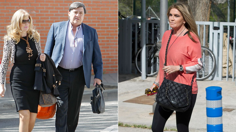 Los padres de Carolina Cerezuela y su representante, Susana Uribarri. (Gtres)