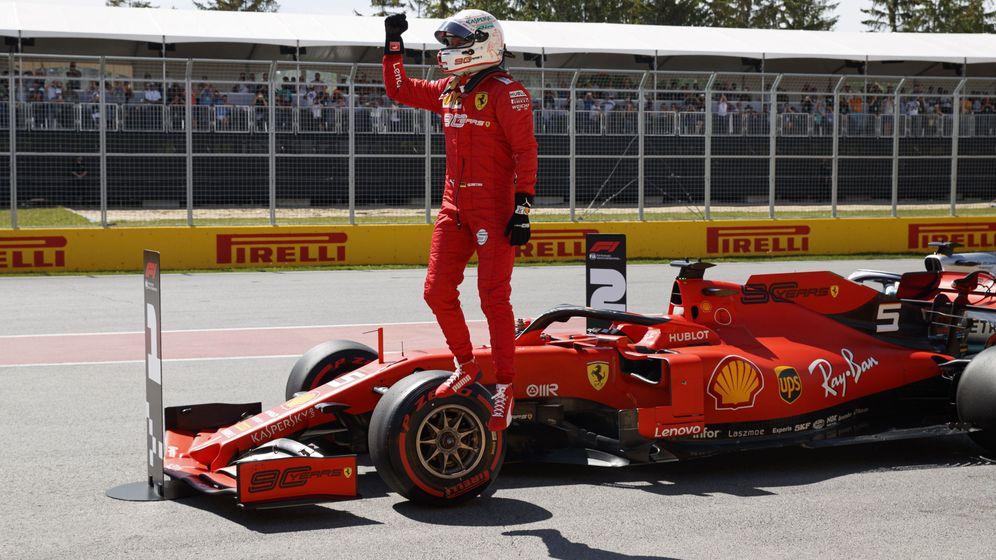 Foto: Vettel logró su primera pole de la temporada.(EFE)