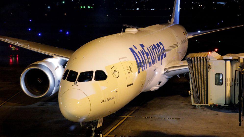 Foto: Un avión de Air Europa en Colombia. (EFE)