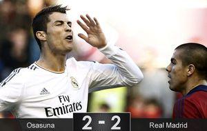 Un lamentable Real Madrid salva un punto ante Osasuna