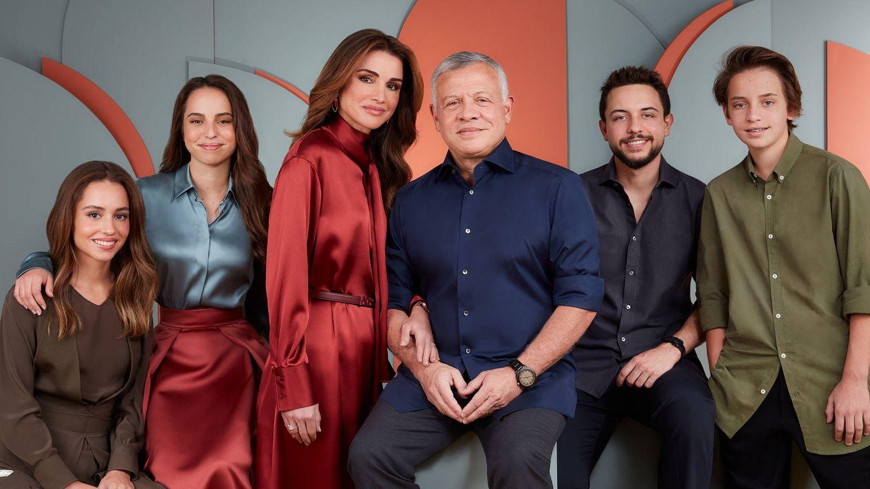 Así felicitaron el año nuevo Rania y su familia. (Instagram: @queenrania)