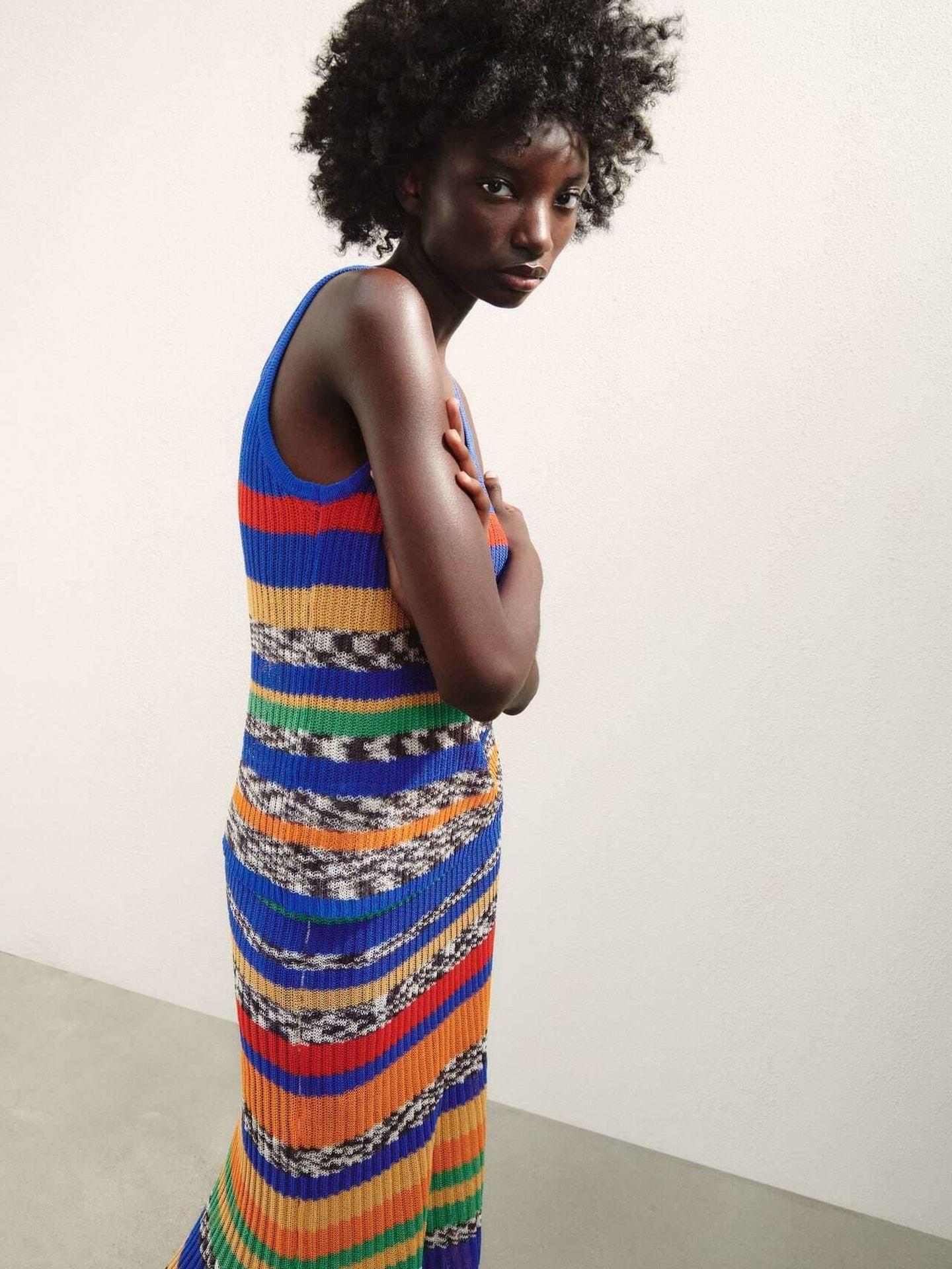 El dos piezas de top y falda de Zara. (Cortesía)