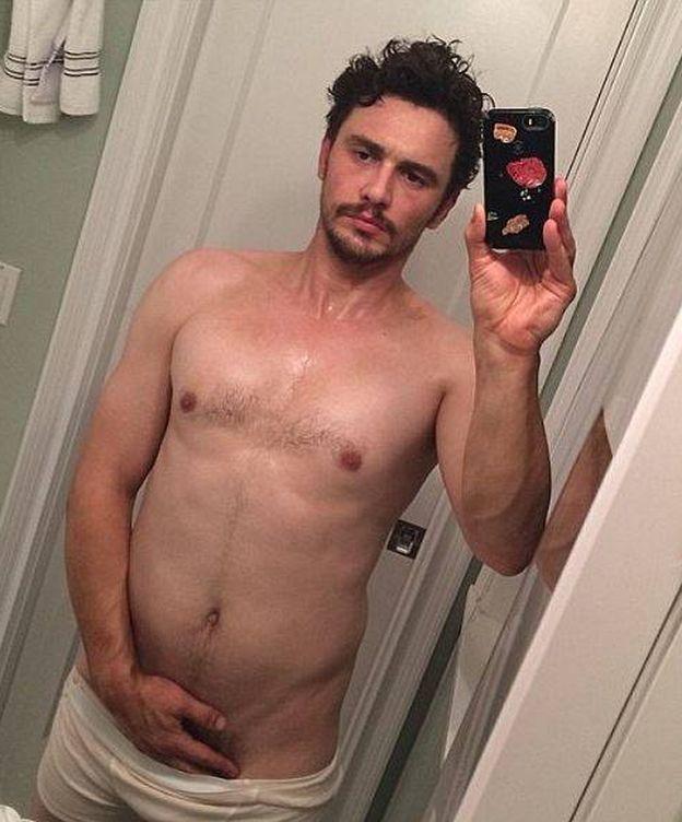 Foto: El actor James Franco en uno de sus míticos desnudos (Instagram)