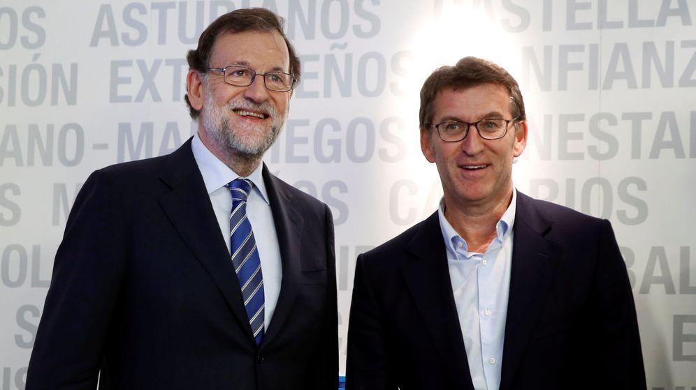 Foto: Mariano Rajoy y Alberto Núñez Feijoo. (EFE)