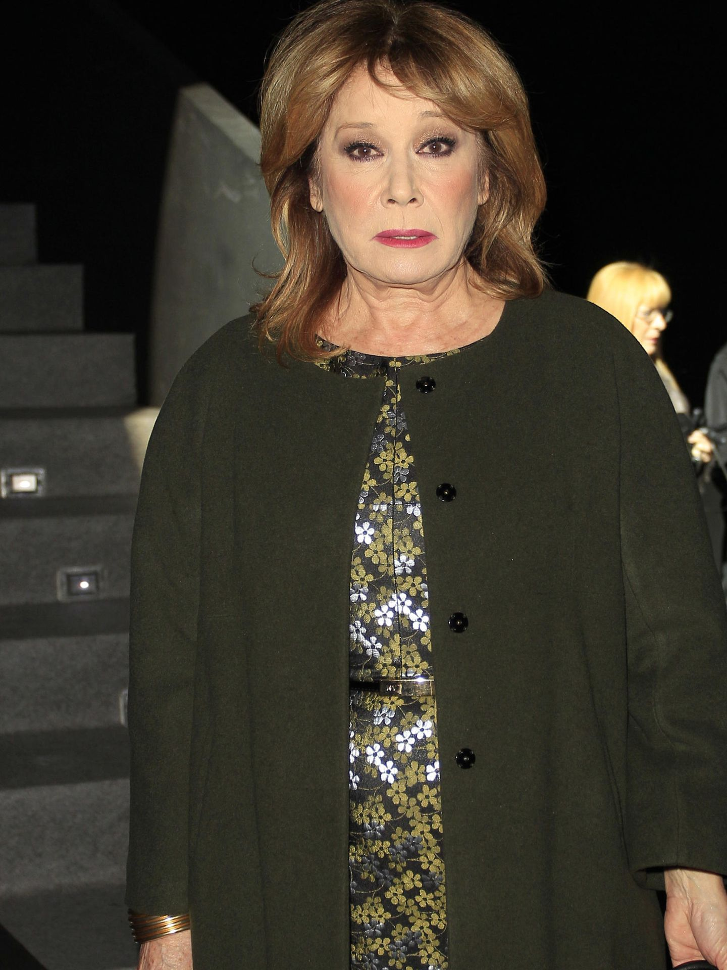 Mila Ximenez at the front row of RobertoVerino collection runway during Pasarela Cibeles - Mercedes-Benz Fashion Week Madrid 2015, in Madrid, on Saturday 7th February 2015