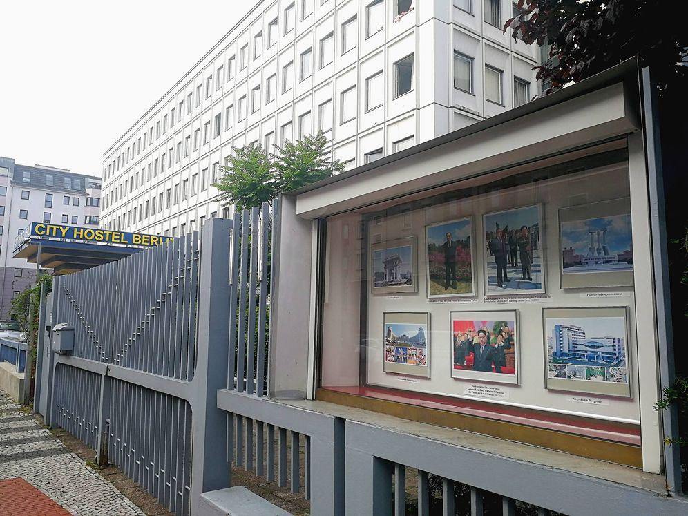 Foto: El City Hostal Berlin, ubicado junto a la embajada de Corea del Norte, en la capital alemana.