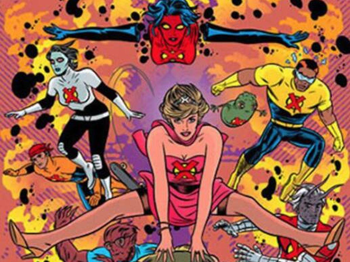 Foto: La princesa Diana como mutante de cómic. (Marvel)