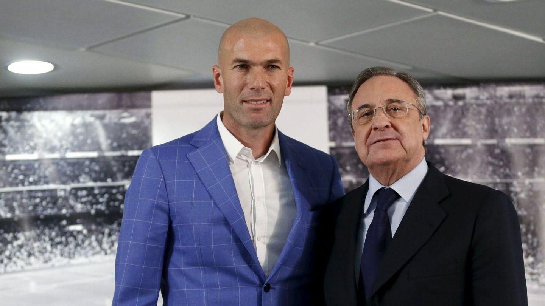 Zinédine Zidane y Florentino Pérez.