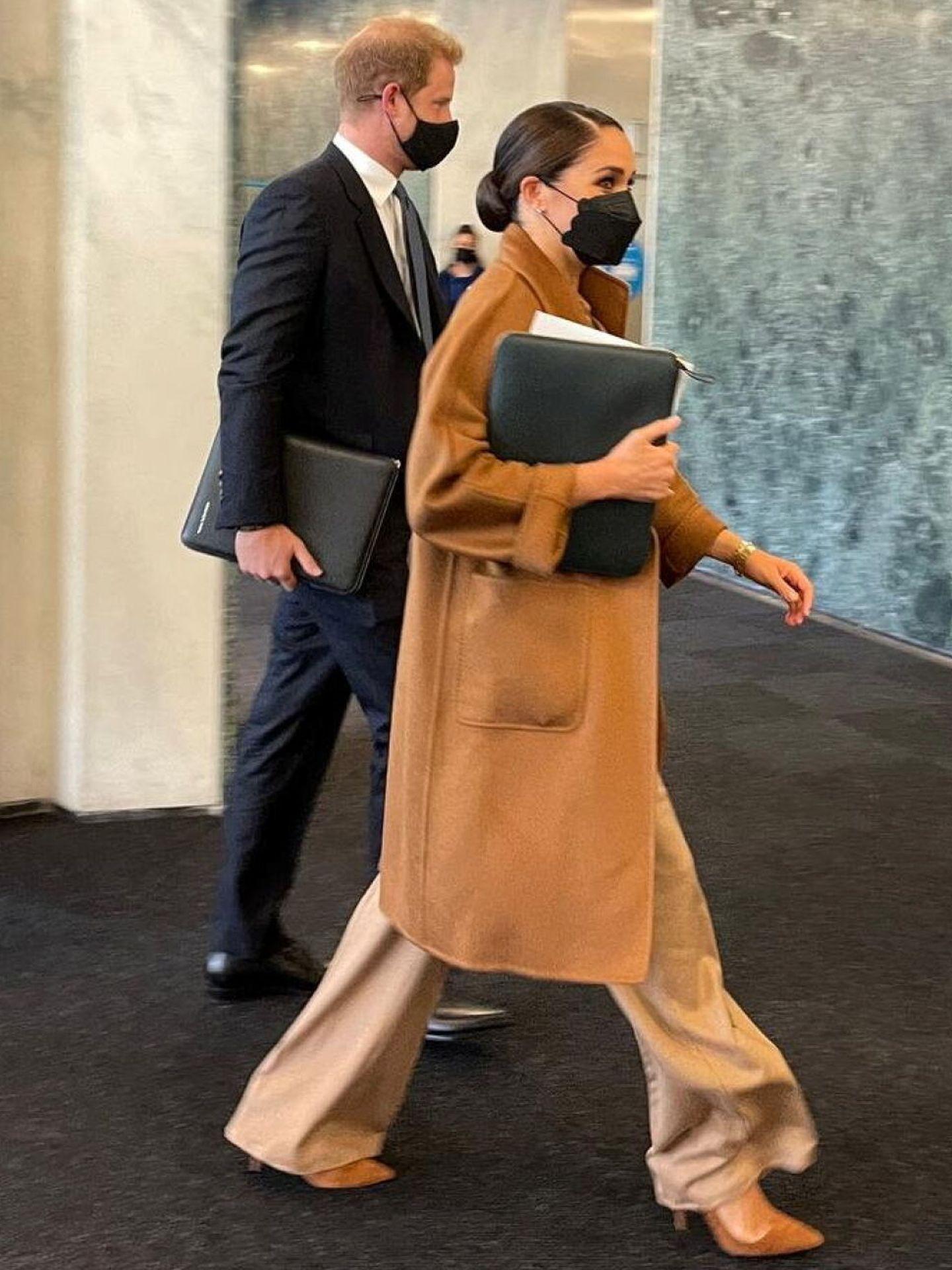 Harry y Meghan, durante su visita a Naciones Unidas. (Reuters)