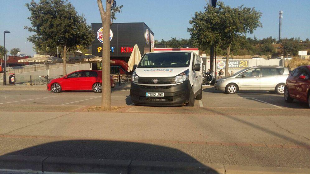 Foto: Furgoneta implicada en el atropello de las Ramblas, hallada en Vic