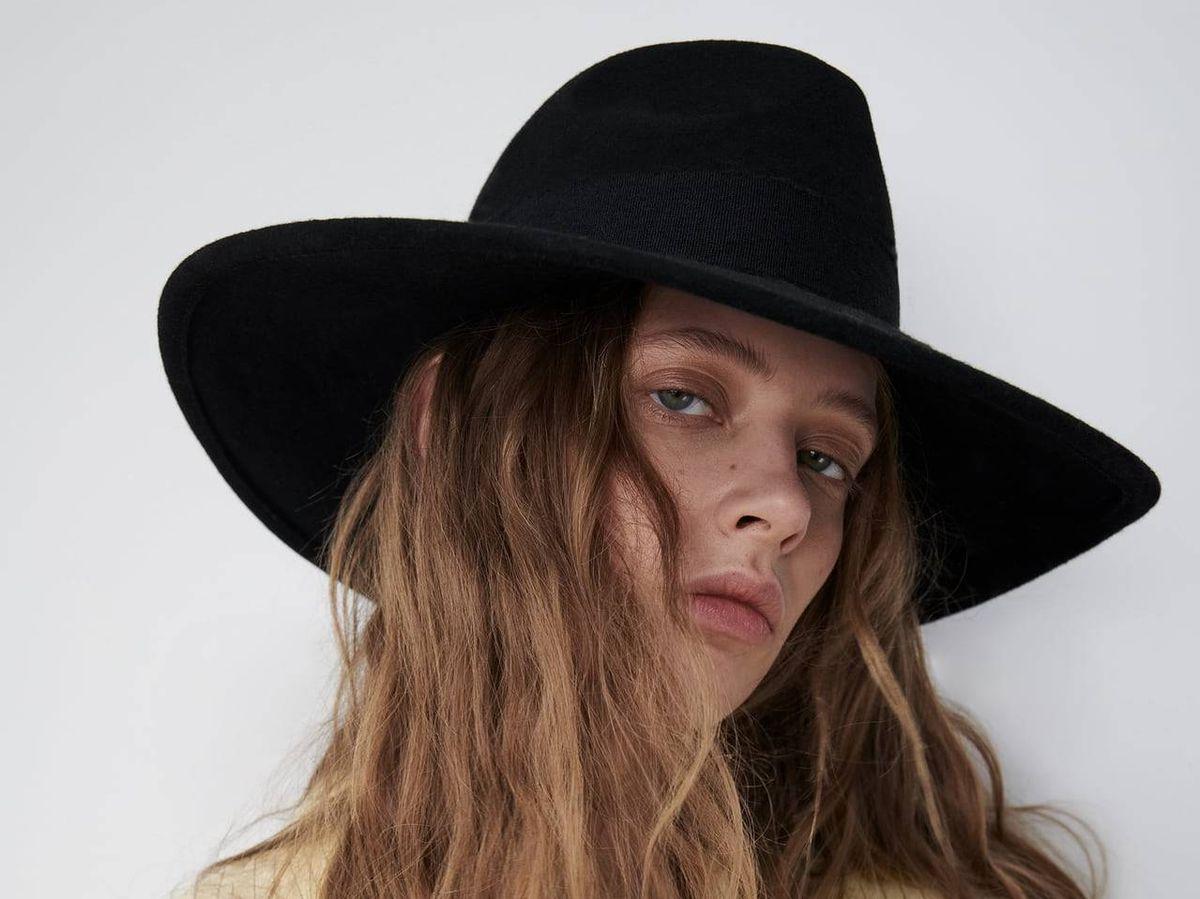 Foto: Sombrero fedora de Zara. (Cortesía)