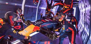 Post de El pit stop más alocado en la historia de la F1: sin gravedad a bordo de un avión