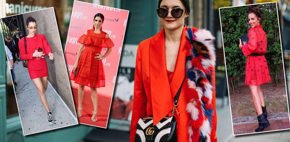 Foto: Bella Hadid en versión mini, Elena Furiase y Paula Echevarría con vestidos rojos.