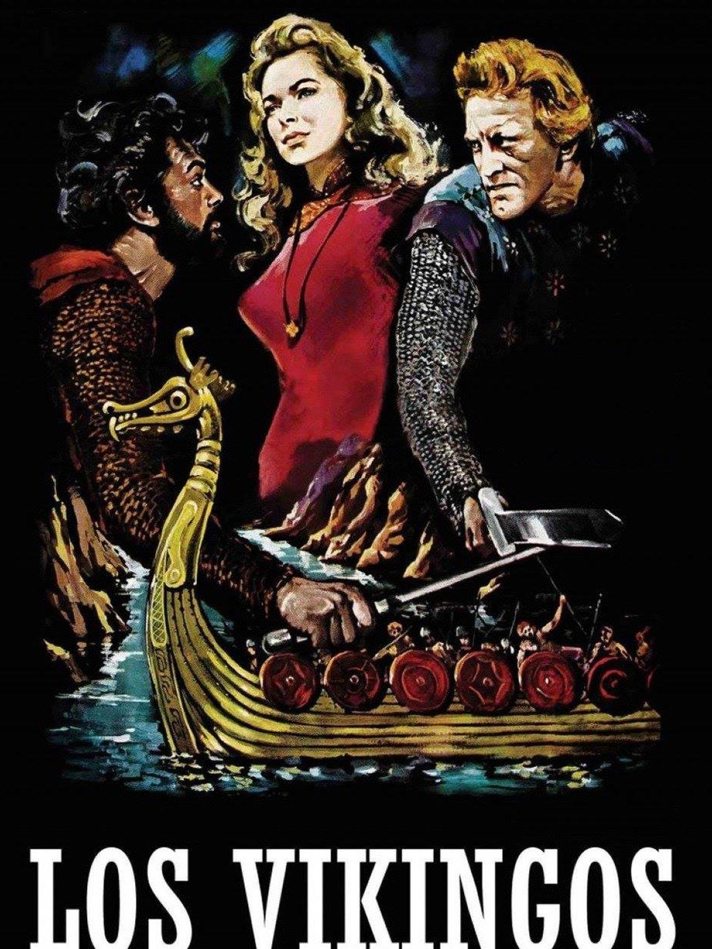 'Los vikingos', la primera película que Douglas presentó en San Sebastián.