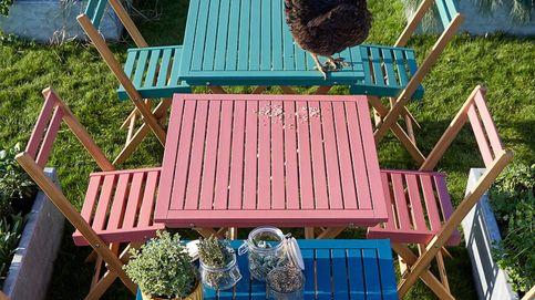 Jardines, terrazas y balcones mini necesitan este conjunto de mesa y sillas de La Redoute