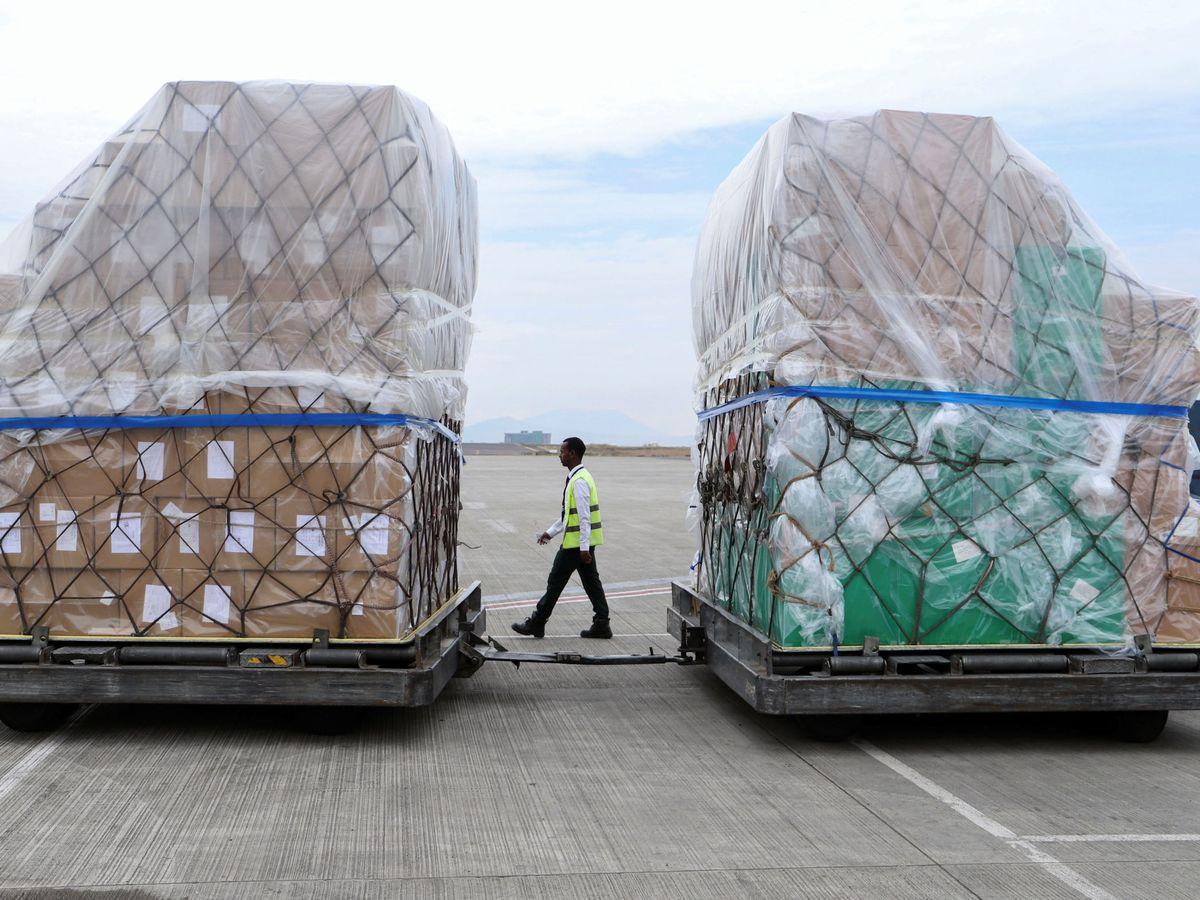 Foto: Uno de los paquetes de ayuda china enviados a África. (Reuters)