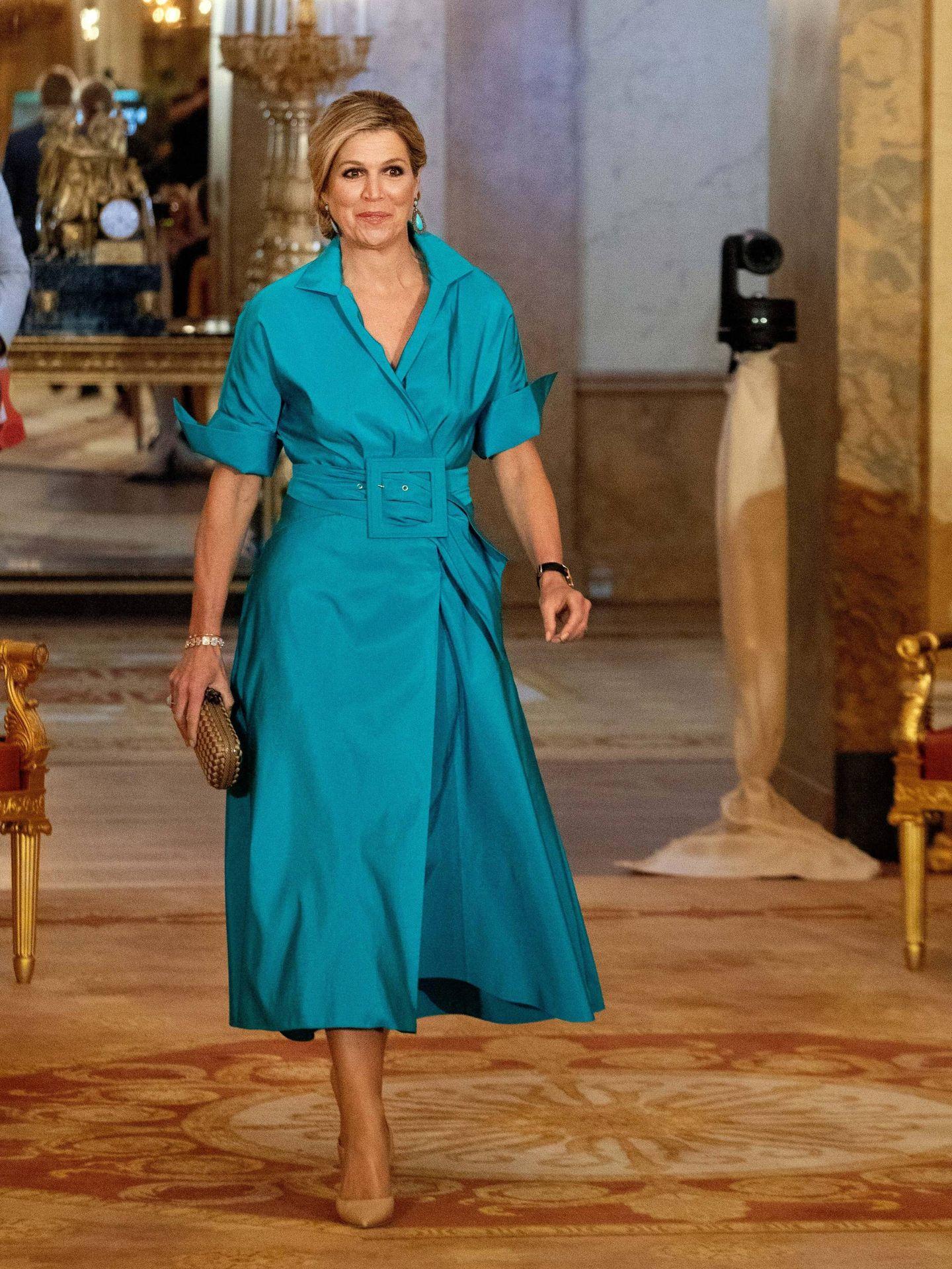 La reina Máxima, en junio con el diseño de Natan. (EFE)