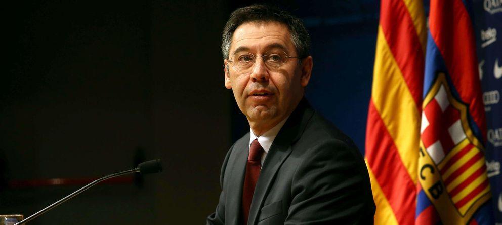 Foto: Josep María Bartomeu durante una rueda de prensa (Efe).