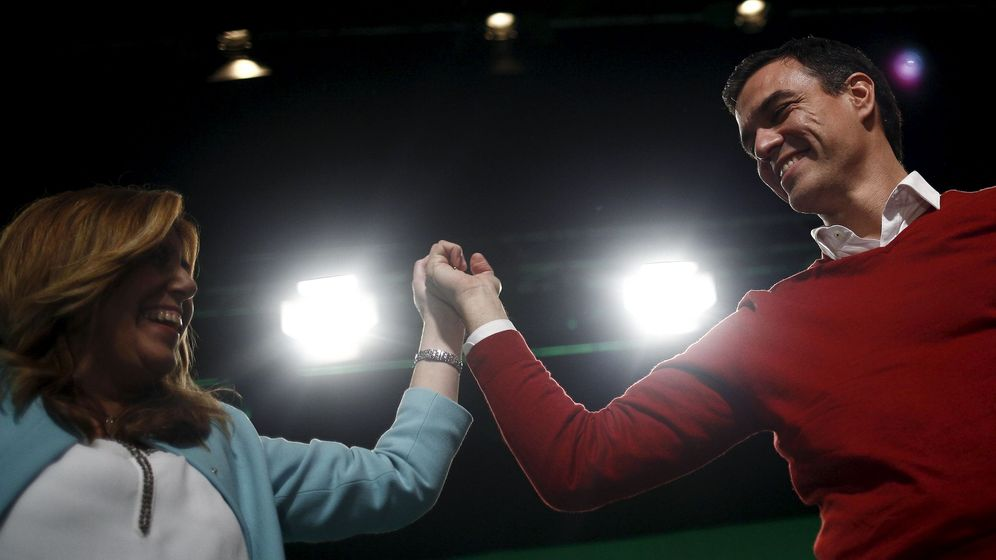 Foto: Susana Díaz y Pedro Sánchez. (Reuters)