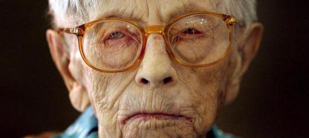 Foto:  Hendrikje van Andel-Schipper durante la celebración de su 115 cumpleaños en Hoogeveen. (Efe)