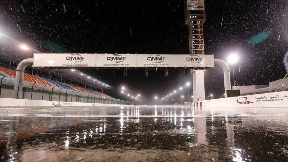 Foto: ¿Lloverá en el desierto? (Foto: MotoGP)