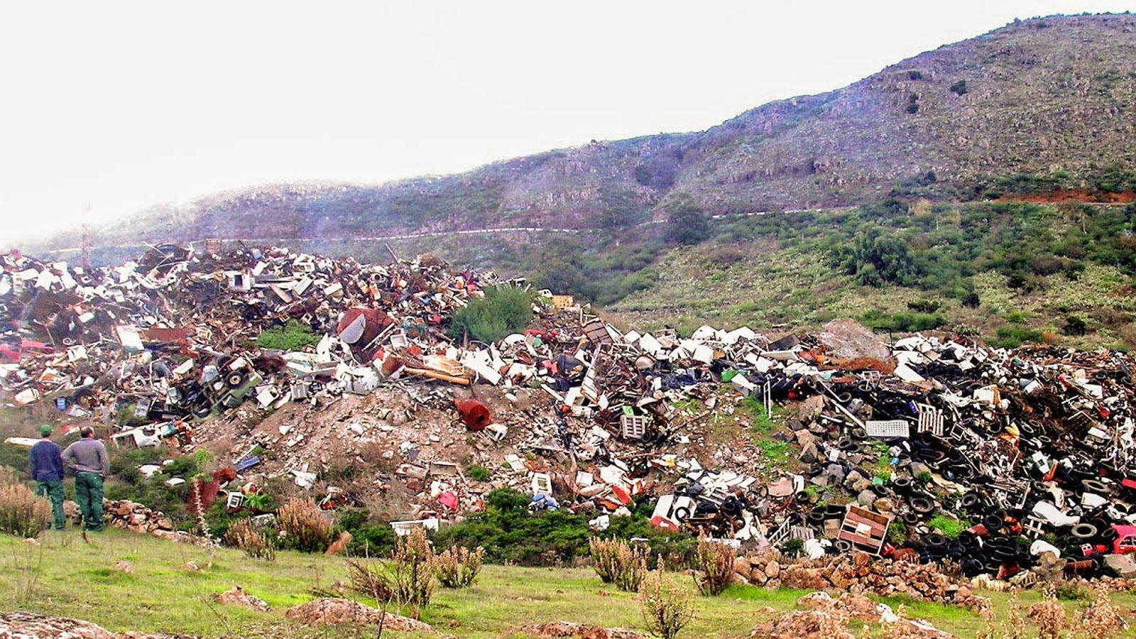 Foto: Vertedero en El Hierro.
