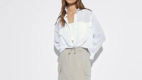 La falda midi de Massimo Dutti para looks cómodos y fresquitos en el trabajo