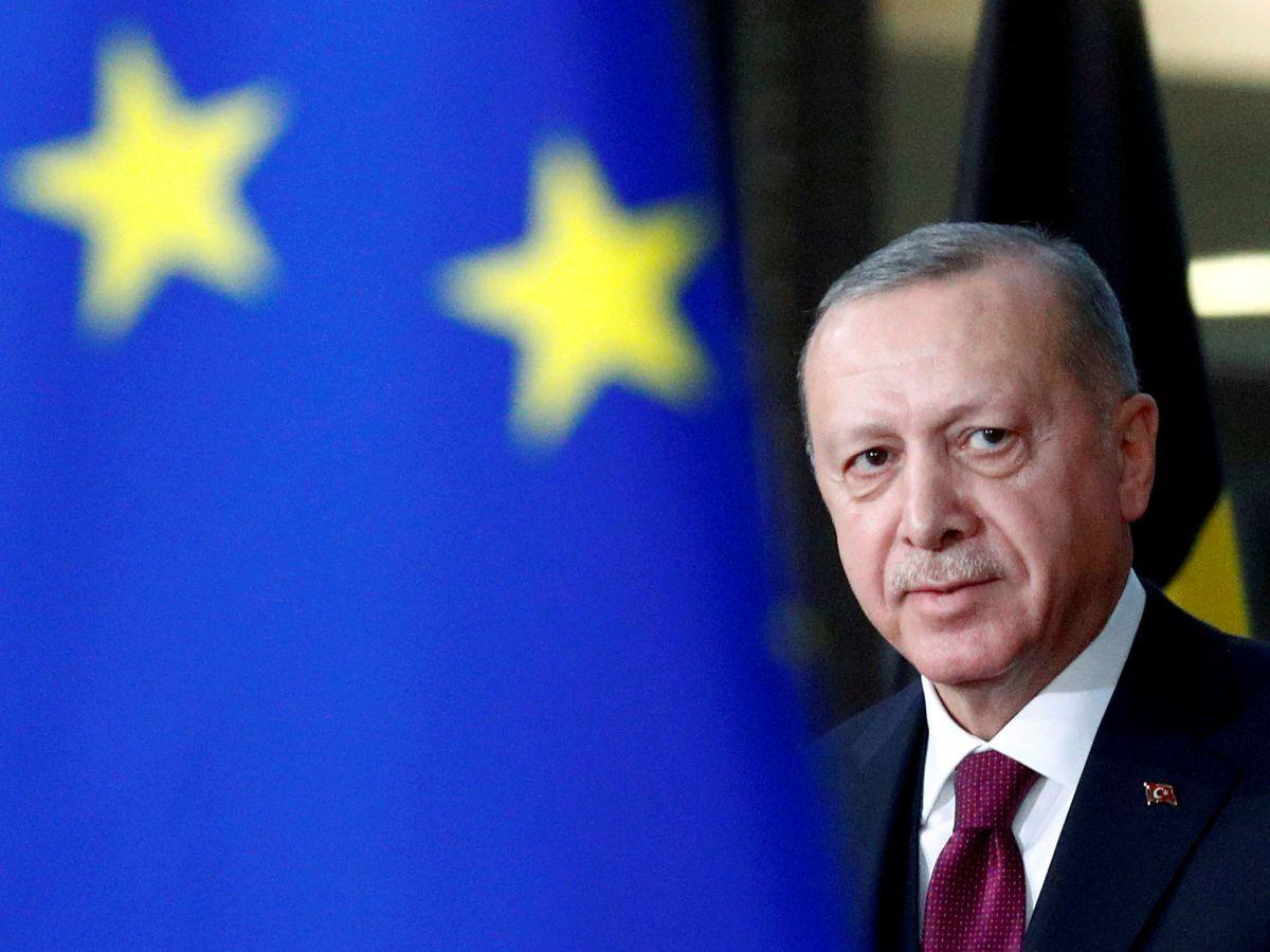 Foto: Erdogan, durante una reunión con el presidente del Consejo Europeo. (Reuters)