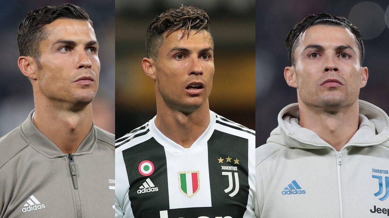 Los looks capilares de Cristiano Ronaldo desde que llegó a la Juventus. (Getty)