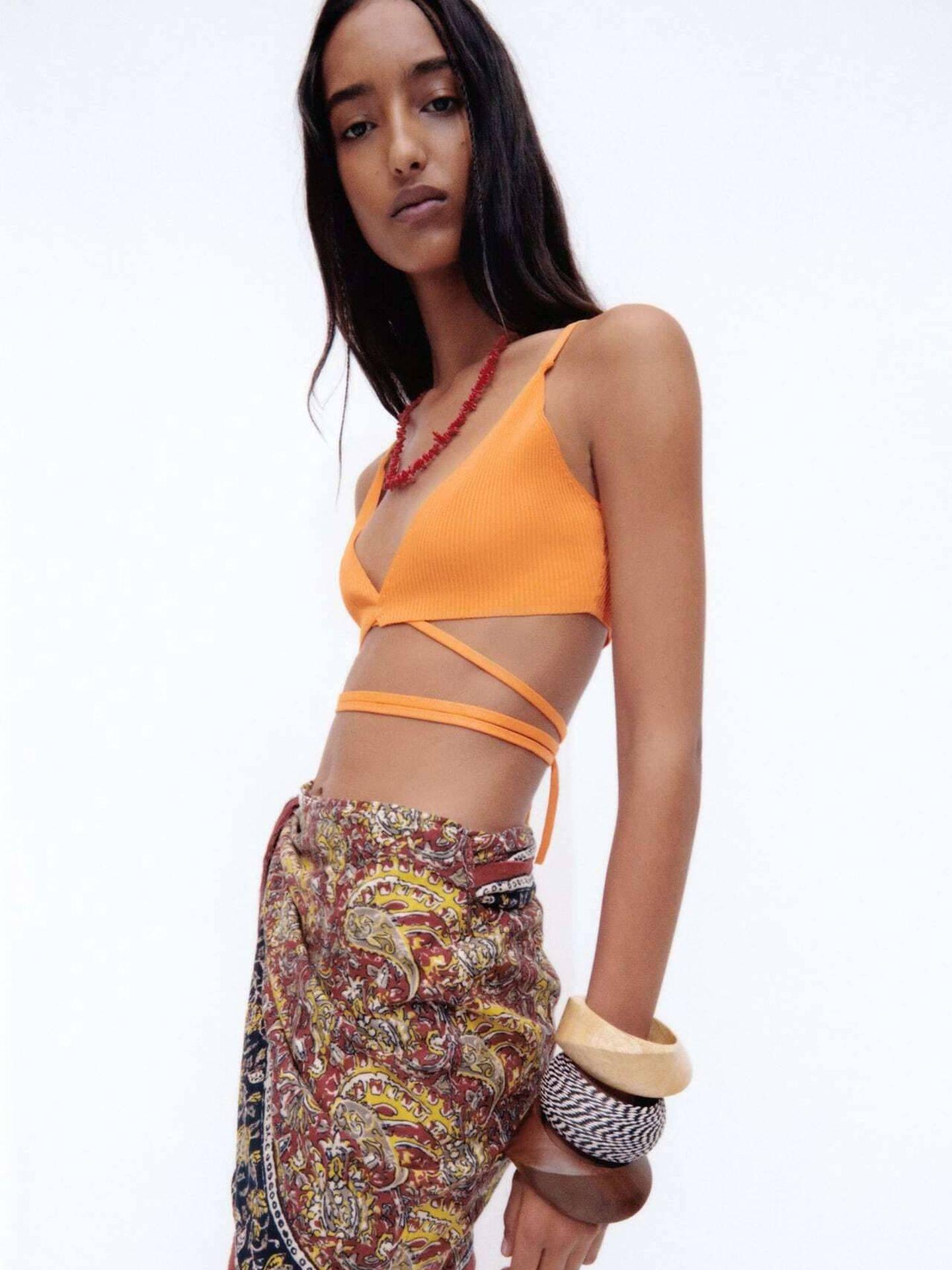 La falda pareo de Zara. (Cortesía)