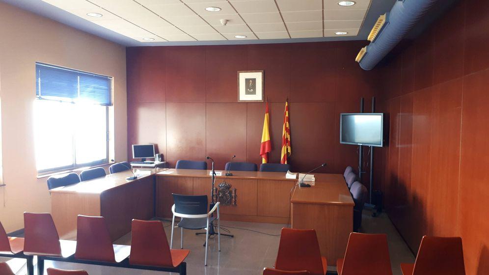 Foto: Una sala de juicios en la escuela judicial de Barcelona. (R. M.)